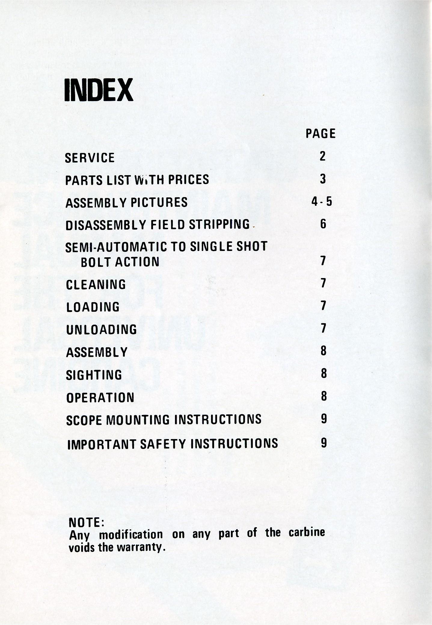 Universal M1 Carbine Manual