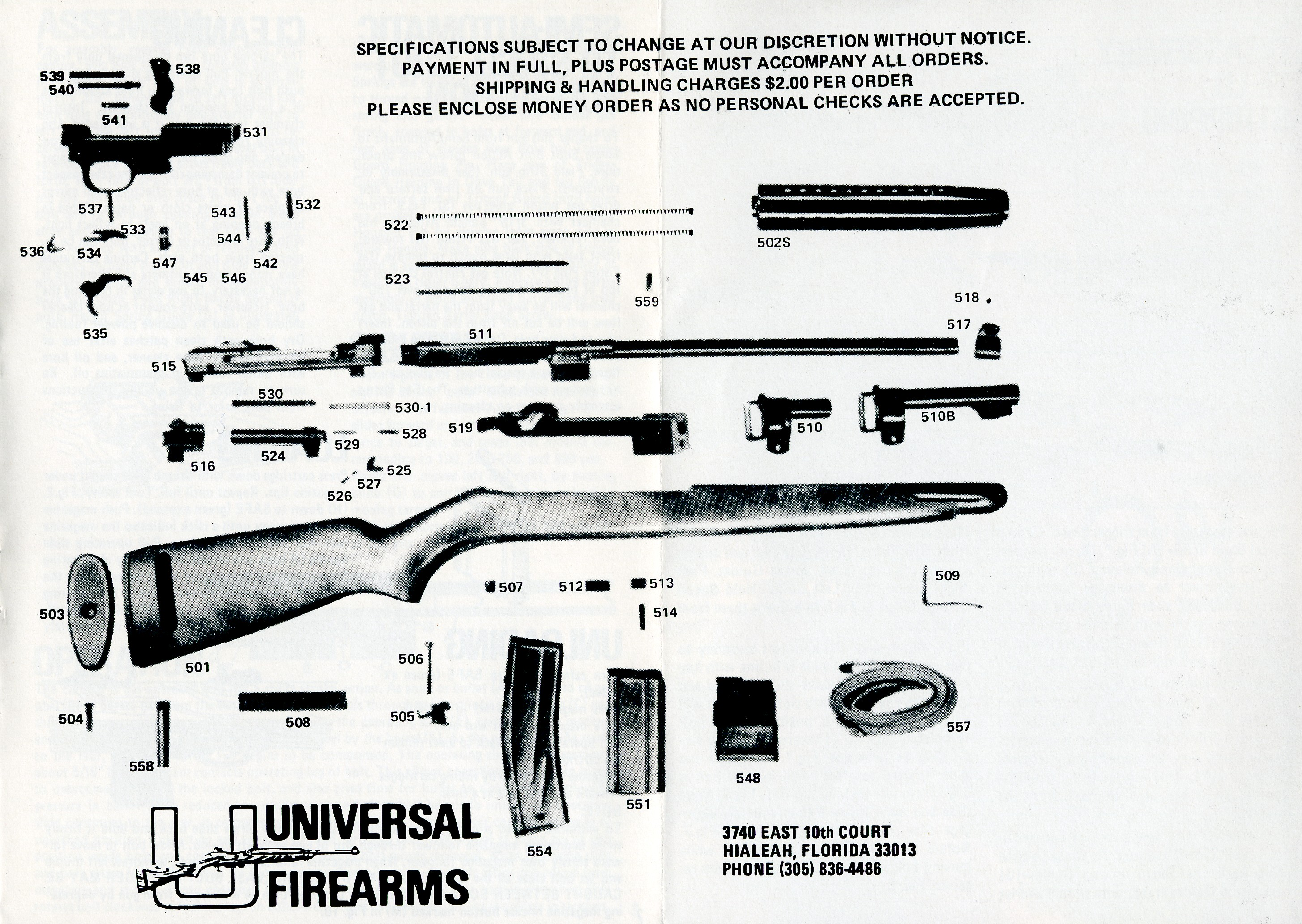 universal m1 carbine manual rh maxicon com M1 Carbine Breakdown universal m1 carbine parts diagram